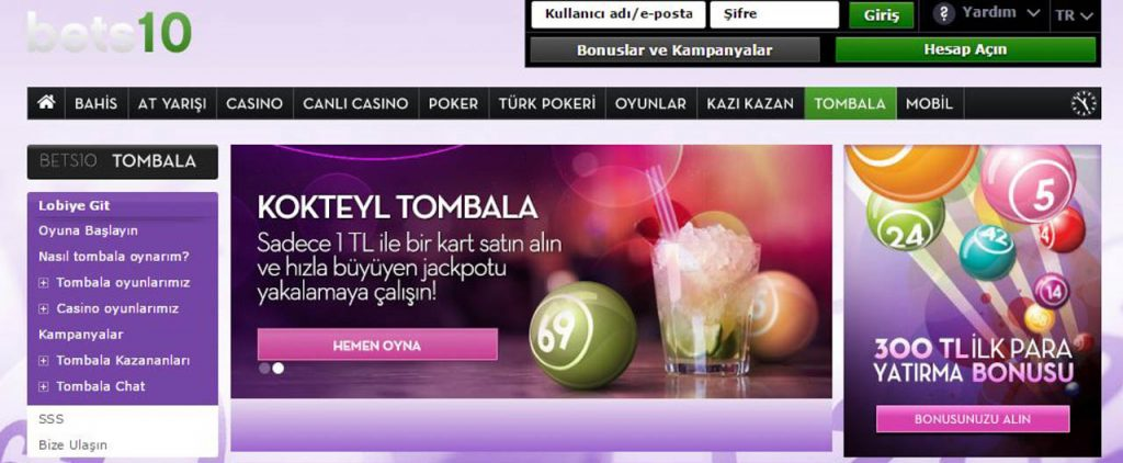 Bets10 Canlı Casino - Rulet - Poker - Tombala - Blackjack